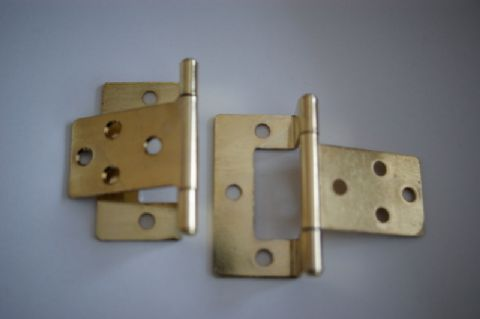 6mm Brass Cranked Hinge (pair)